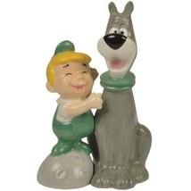 The Jetsons ELROY and ASTRO SALT PEPPER SHAKER SET Ceramic Magnetic Gift... - $10.62