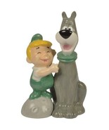 The Jetsons ELROY and ASTRO SALT PEPPER SHAKER SET Ceramic Magnetic Gift... - $10.62