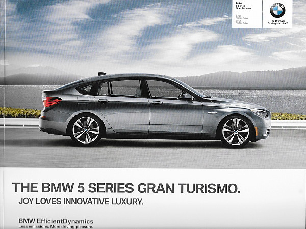 2012 BMW 5-SERIES GT brochure catalog 12 US 535i 550i Gran Turismo xDrive