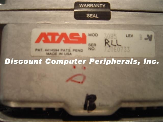 Rare Vintage ATASI 3085 69MB 5.25IN FH MFM Drive Tested AS IS