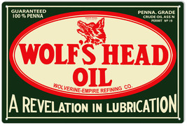 Wolf's Head Oil Service Station Gas Sign - $25.74