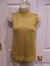 New In Pkg Newport News Citron Sleeveless Turtleneck Sweater Size Medium - $12.61