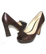 "❤️ KENNETH COLE New York ""Shop It"" Snakeskin Peep-Toe Platform Pumps 8.5... - $29.63"