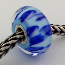 Authentic Trollbeads Ooak Murano Glass Unique Bead Charm #228, 15mm Diameter New - $33.24