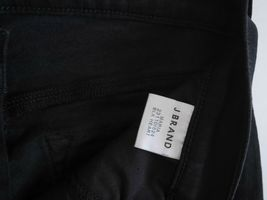 $198 NEW J Brand Maria - High Rise Skinny in Black Heart Destroyed - Size 29 image 9