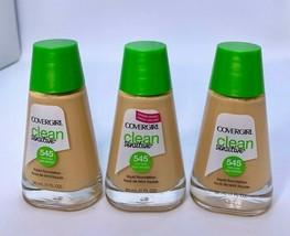 3x Covergirl Clean Sensitive Liquid Foundation Warm Beige 545 - $15.35
