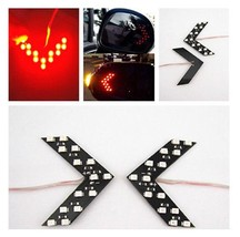 1 Pair 14 SMD LED Arrow For Car Side Mirror Turn Signal Indicator Color Red AE8