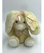 NWT Commonwealth Baby Floppins Bunny Rabbit Plush Pink Bow Easter Vtg 1987 - $34.99