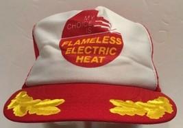 Vtg Flameless Electric Heat Mesh Snapback Trucker Hat Cap USA Scrambled ... - $23.36
