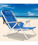 Backpack Beach Chair Folding Portable Chair Blue Solid Camping Hiking Fi... - $77.26