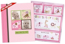 Baby Girl Memory Book Hardcover Record Babys First Five Years Diary Prec... - $26.68