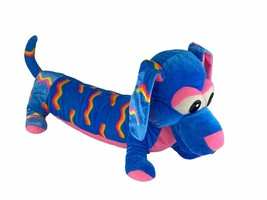 "Large Dachshund Soft Toy Plush Stuffed Dog Puppy 22"" Long Multicolor Cla... - $30.81"