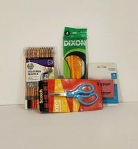 12 Simply Coloured Pencils, Scotch Kid Scissors, 8 Dixon #2 Pencils, 2 E... - $15.00