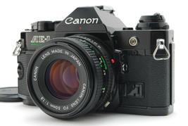 Near MINT/ Canon AE-1 Program Black + New Fd 50mm F1.8 Lens From Japan #1368 - $297.92