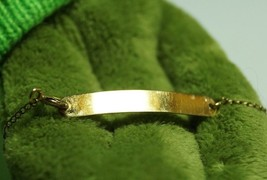 Vintage Simmons Gold Plated Baby  Plain ID Bracelet  Chain 12K Gold  Plate - $17.82