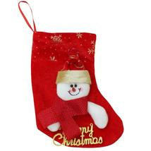 (02)Snoman Santa Claus Christmas Stocking Christmas Tree Ornaments New Y... - $14.00