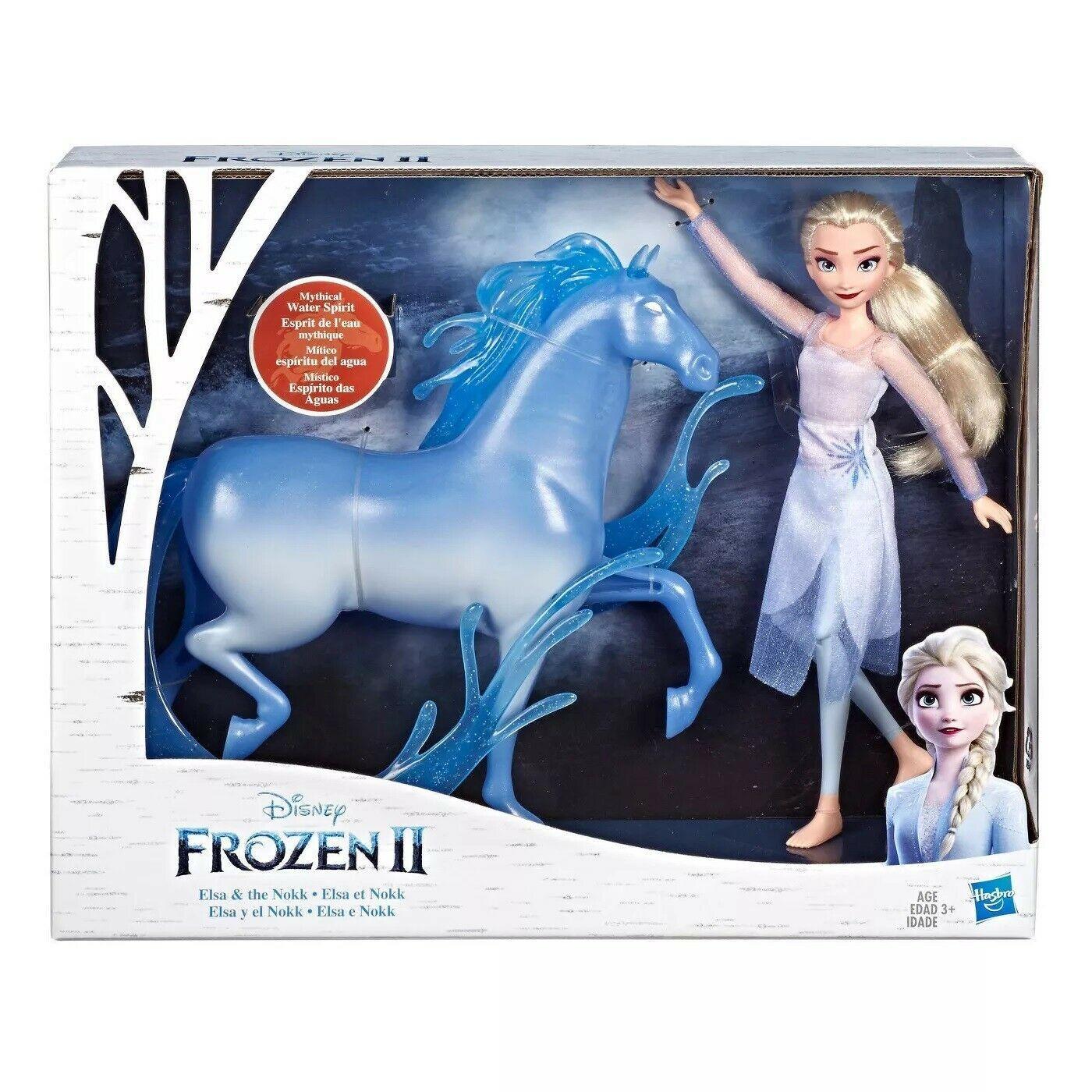 Disney Frozen 2 Elsa Doll and Nokk Spirit Horse Figure HASBRO NIB/Sealed - $45.99