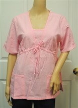 Los Angeles Rose Pink Scrub Top w/ Drawstring Front Small NWT - $24.99
