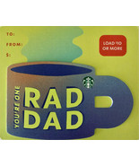 Starbucks 2021 You're One Rad Dad Cup Recyclable Gift Card New No Value - $2.99