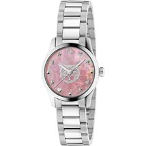 Gucci YA1265013 Pink Dial Stainless Steel Strap Ladies Watch - $830.99