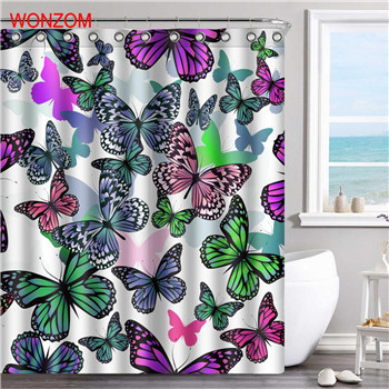 WONZOM Duck Polyester Fabric Dog Shower Curtain Penguin Bathroom Decor Waterproo
