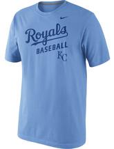 Nike Kansas City Royals Baseball Practice 1.4 KC MLB Light Blue SS Men's T-Shirt - $48.00