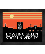 Bowling Green State Falcons 13 x 16 Uscape with Retro Skyline Framed Print  - $39.95