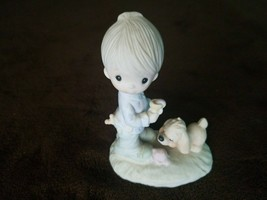 Pre-Owned PRECIOUS MOMENTS FIGURINE - PRAISE THE LORD ANYHOW  - $11.20