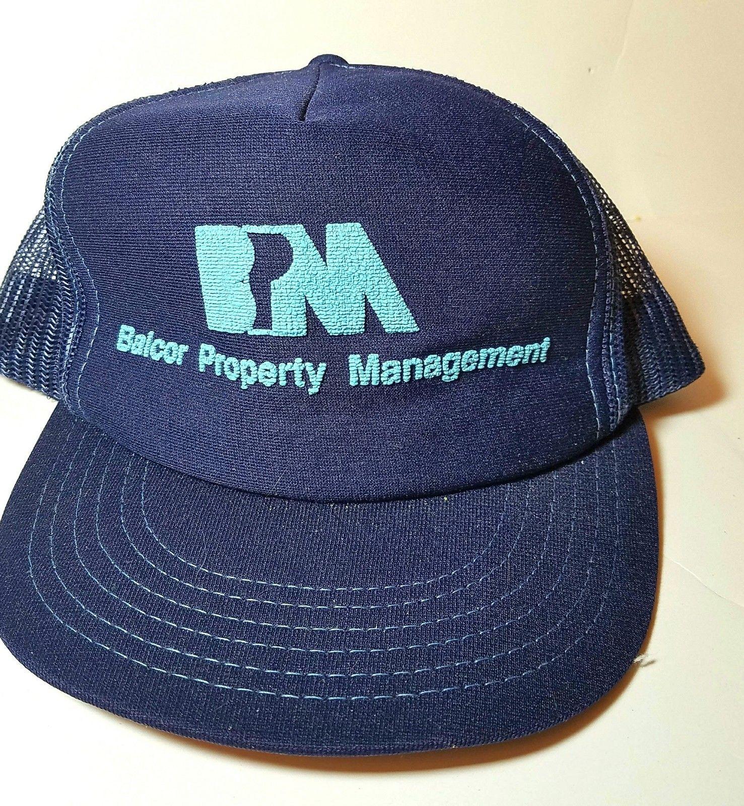 S l1600. S l1600. Vintage 1980s Balcor Property Trucker Mesh Foam Snapback  Hat cap ... cecd40d04f6b