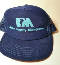 Vintage 1980s Balcor Property Trucker Mesh Foam Snapback Hat cap Made in... - $15.79