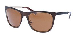 Guess Polarized Men's Matte Dark Brown Metal Sunglasses GU6881 49H - £23.15 GBP