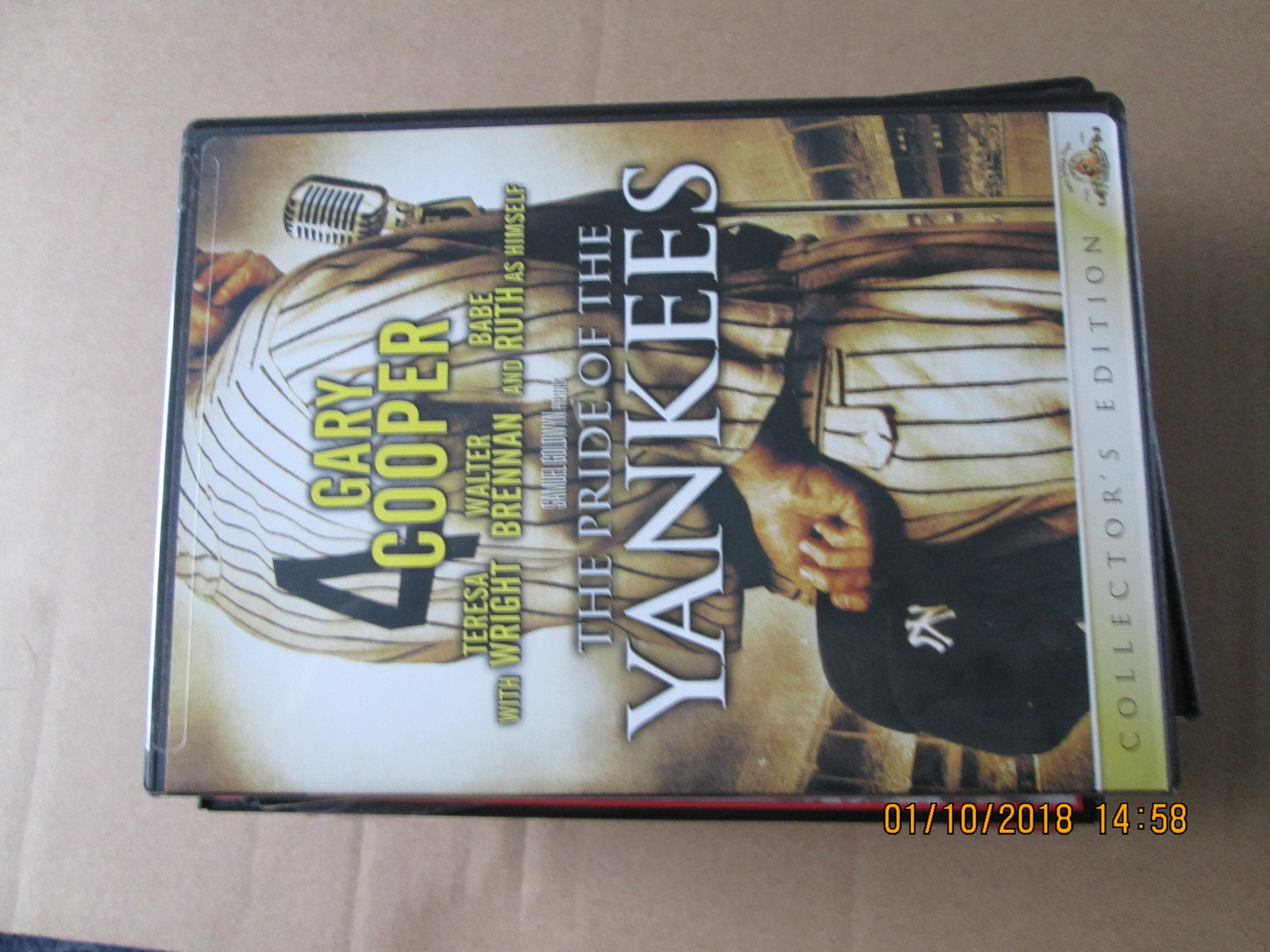 The Pride of The Yankees dvd Gary Cooper