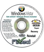 Windows Vista Home Premium x32/32 bit Fresh Re Install Disc - Free Tech Support