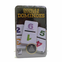 Double 6 Number Dominoes in Tin Box NEW - $19.79