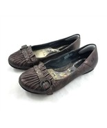 Born Clever Brown Moro Leather Ballet Flats Comfort Shoes Womens 7 M W62024 - $29.56