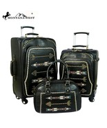 Montana West Western Arrow Embroidered Pattern 3 PC Luggage Travel Set S... - $289.99