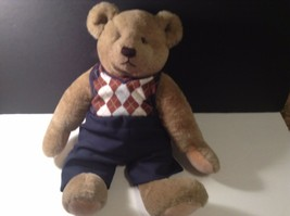 "Gund Bialosky Bear 1982 With Pants & Sweater Jointed 18"" tall CUTE - $17.50"