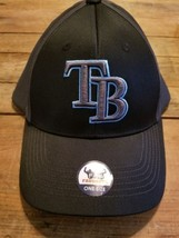 Tampa Bay Rays Home MLB Baseball Cap Hat. FAN FAVORITE ONE SIZE FITS BLA... - $17.81
