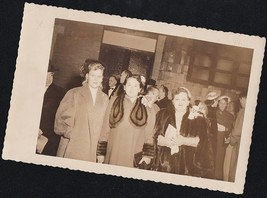 Old Vintage Antique Photograph Group of Women in Great Outfits Furs Hats... - $6.93