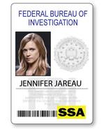 CRIMINAL MINDS JENNIFER JAREAU NAME BADGE PROP HALLOWEEN COSPLAY MAGNET ... - $13.36