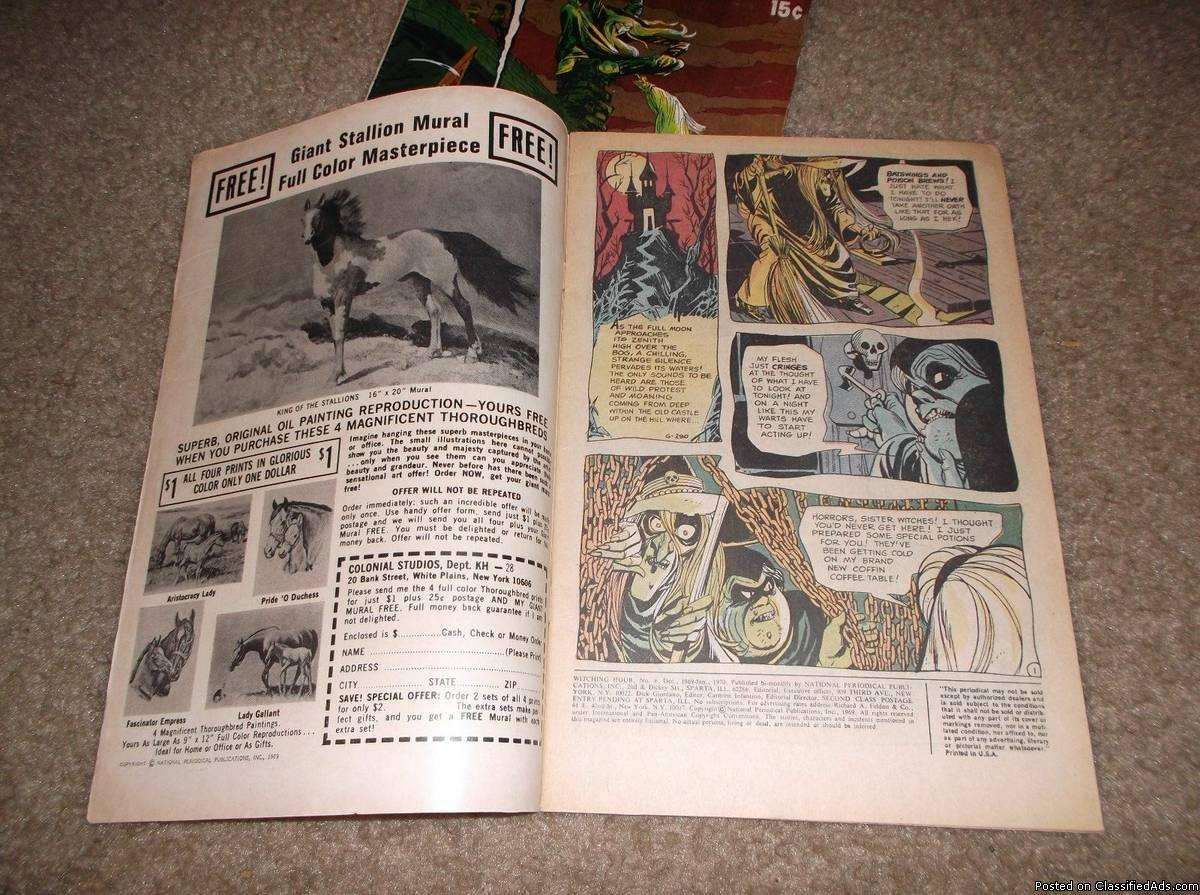 The WItChINg HouR Issues 5 & 6 * Classic 1970 DC Horror Lot!!