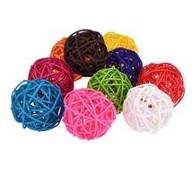 BS FEEL 30 Pcs Assorted Color Twig Grapevine Balls 5cm Decorative Wicker... - $17.33