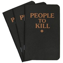 """People to Kill"" Memo Books in Black 3 Pack by Violent Little Machine Shop - $18.70"