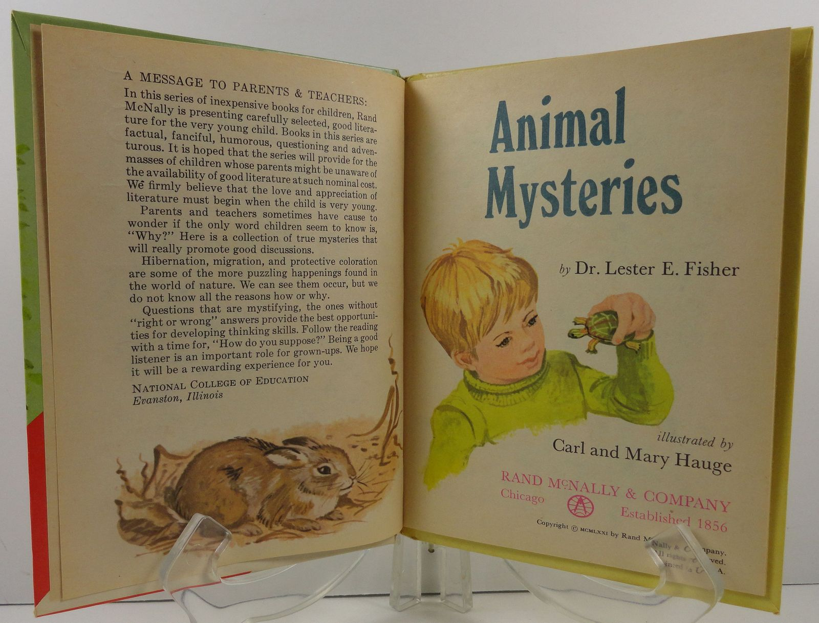 Animal Mysteries by Dr. Lester E. Fisher Start Right Elf Book