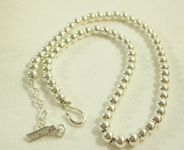 NAPIER Small SILVER Plate BALLS BEADS Chain Choker Necklace Classic Vint... - $22.76