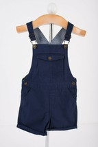 Zara Toddler Boys Overalls Shorts Sz 2-3 Yrs 98 cm Navy Blue 7901/516 NWT - $24.74