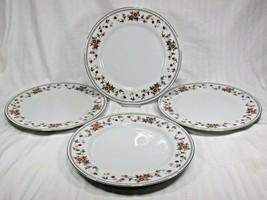 (4) Vintage Sheffield Anniversary Pattern Fine China Dinner 10in Plate Japan EUC - $22.95