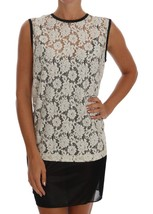 Dolce & Gabbana White Floral Lace Blouse Top 111848 - $210.96