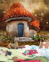 3D Schöne Pilzhaus 436 Fototapeten Wandbild Bild Tapete Familie Kinder - $51.18+