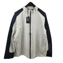 Vuga Tech Men Full Zip White Black Waterproof Golf Rain Jacket Size 2XL 1A - $62.95